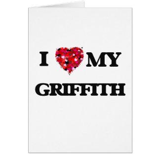 Amo MI Griffith Tarjeta De Felicitación