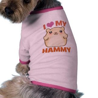 Amo mi Hammy Camiseta De Perrito