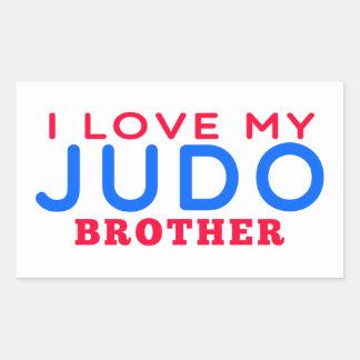 Amo mi judo Brother Rectangular Pegatinas