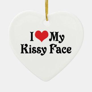 Amo mi Kissy hago frente Ornamentos De Reyes