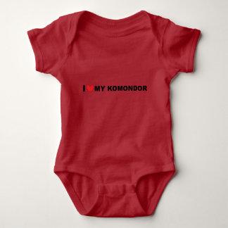 amo mi komondor body para bebé