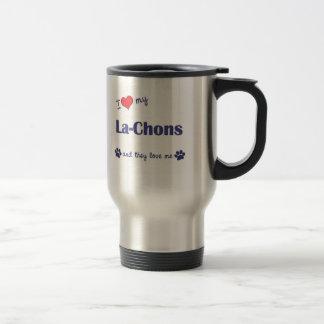 Amo mi la-Chons (los perros múltiples) Taza Térmica