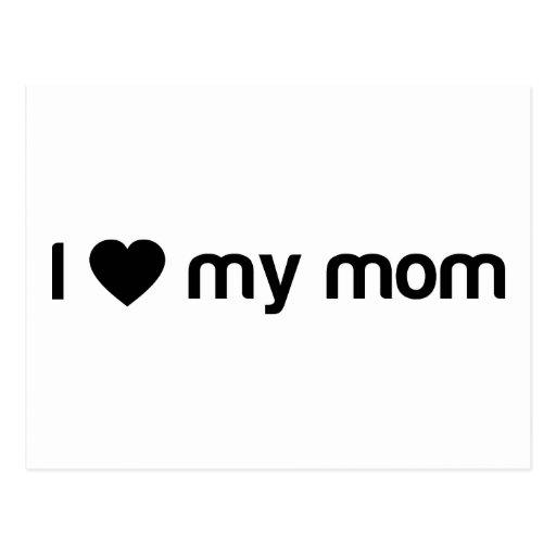 Amo mi lema de la mamá postal