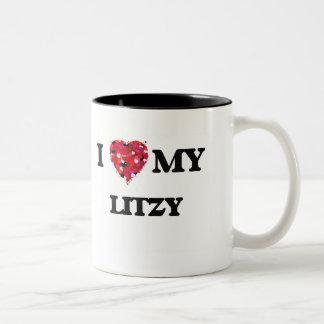 Amo mi Litzy Taza De Dos Tonos