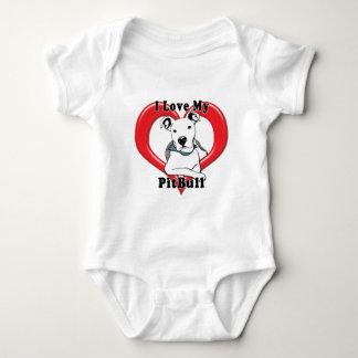 Amo mi logotipo de PitBull Body Para Bebé