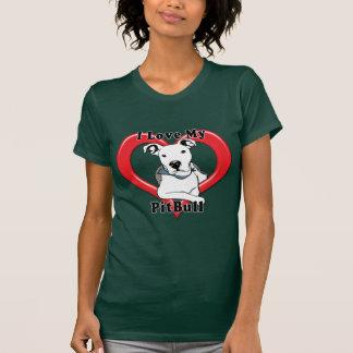 Amo mi logotipo de PitBull Camisas