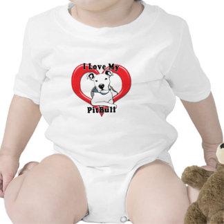 Amo mi logotipo de PitBull Traje De Bebé