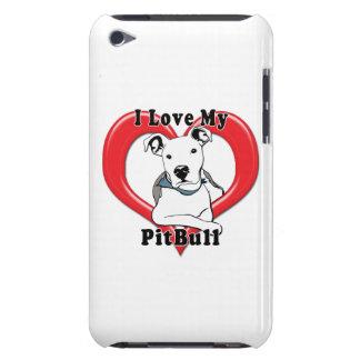 Amo mi logotipo de PitBull iPod Touch Protectores