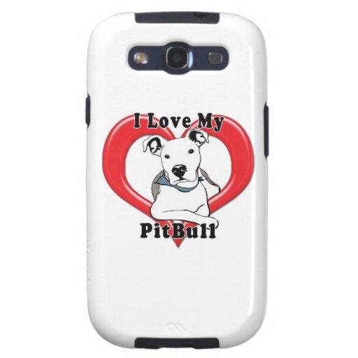 Amo mi logotipo de PitBull Galaxy S3 Cobertura