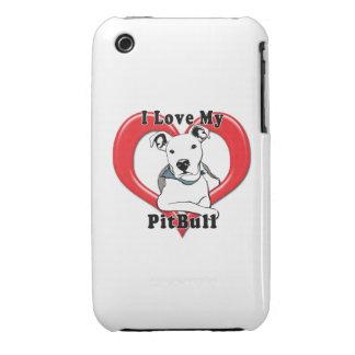 Amo mi logotipo de PitBull iPhone 3 Cobreturas