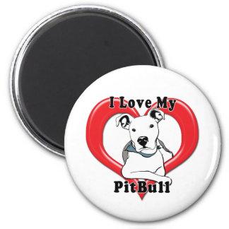 Amo mi logotipo de PitBull Imanes De Nevera