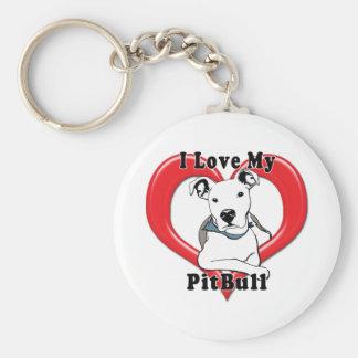 Amo mi logotipo de PitBull Llavero Personalizado