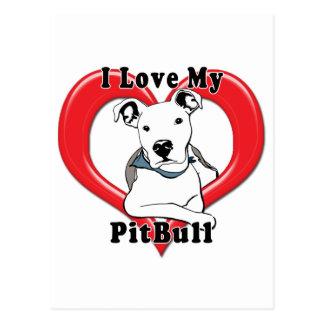 Amo mi logotipo de PitBull Postales