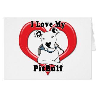 Amo mi logotipo de PitBull Tarjeta De Felicitación