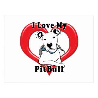 Amo mi logotipo de PitBull Tarjetas Postales