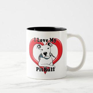 Amo mi logotipo de PitBull Taza De Café