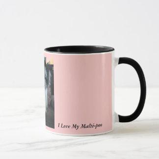 Amo mi Malti-poo, rosado Taza
