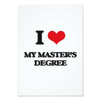 Amo mi masters invitación 12,7 x 17,8 cm
