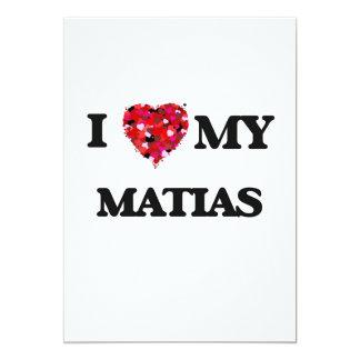 Amo mi Matias Invitación 12,7 X 17,8 Cm