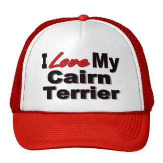 Amo mi mercancía del perro de Terrier de mojón Gorro De Camionero