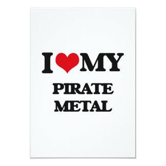 Amo mi METAL del PIRATA Invitación 8,9 X 12,7 Cm