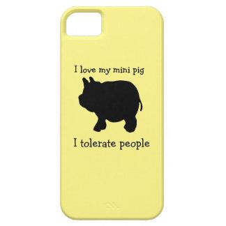 Amo mi mini cerdo, yo tolero a gente funda para iPhone SE/5/5s