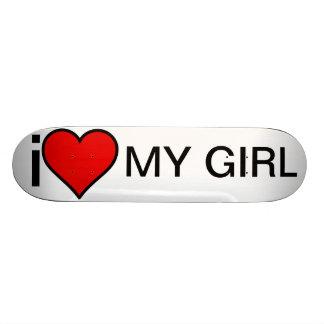 Amo mi monopatín del chica