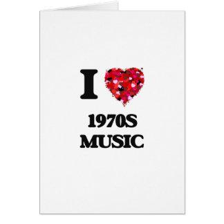 Amo mi MÚSICA de los años 70 Tarjeta De Felicitación