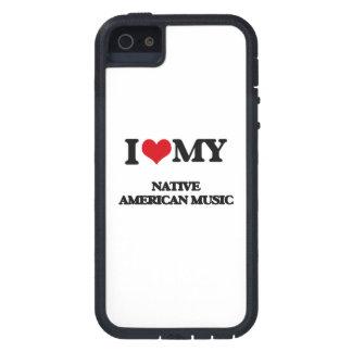 Amo mi MÚSICA del NATIVO AMERICANO iPhone 5 Cárcasas