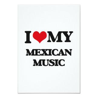 Amo mi MÚSICA MEXICANA Invitación 8,9 X 12,7 Cm