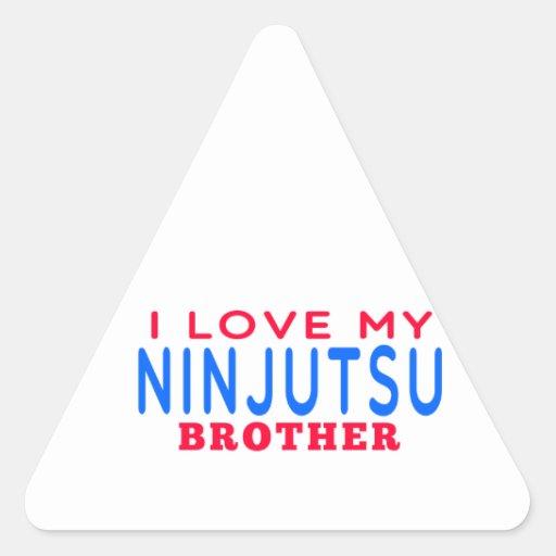 Amo mi Ninjutsu Brother Pegatina De Triangulo Personalizadas