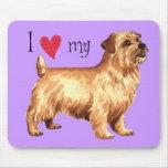 Amo mi Norfolk Terrier Tapetes De Raton