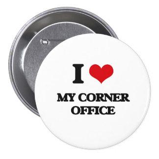 Amo mi oficina de la esquina chapa redonda 7 cm