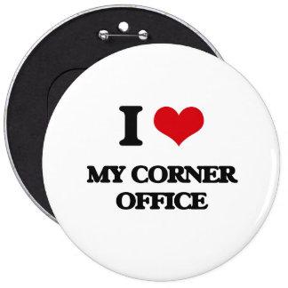 Amo mi oficina de la esquina chapa redonda 15 cm