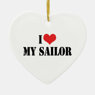 Amo mi ornamento del marinero ornamentos de reyes