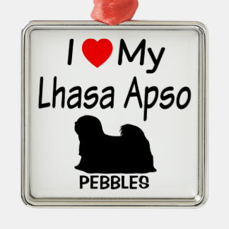 Amo mi ornamento del perro de Lasa Apso