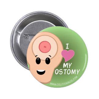 ¡Amo mi Ostomy! Chapa Redonda De 5 Cm