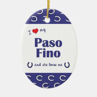 Amo mi Paso Fino (el caballo femenino) Ornato