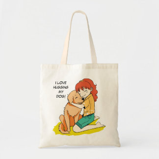 Amo mi perro bolsas lienzo