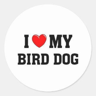 Amo mi perro de caza etiquetas redondas