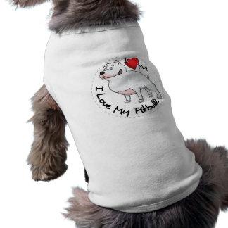 Amo mi perro de Pitbull Camiseta Sin Mangas Para Perro