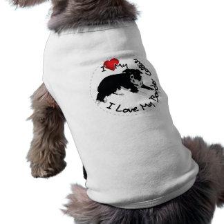 Amo mi perro del border collie camiseta sin mangas para perro