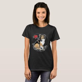 Amo mi perro del collie camiseta