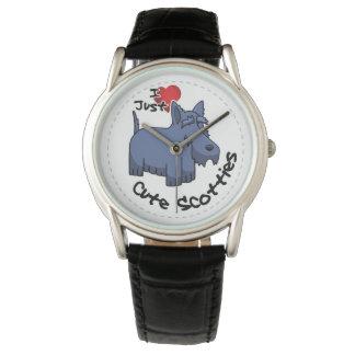 Amo mi perro divertido y lindo adorable feliz del reloj de pulsera