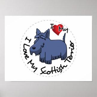 Amo mi perro escocés de Terrier Póster