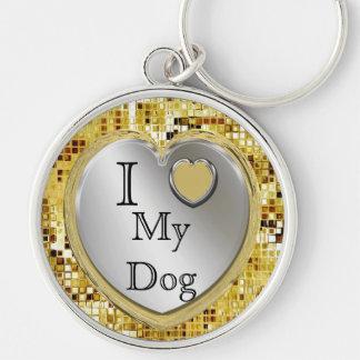 ¿Amo mi perro o? Llavero del corazón