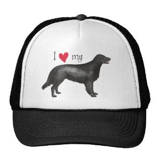 Amo mi perro perdiguero Plano-Revestido Gorras