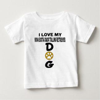 Amo mi perro tocante D del perro perdiguero del Camiseta De Bebé