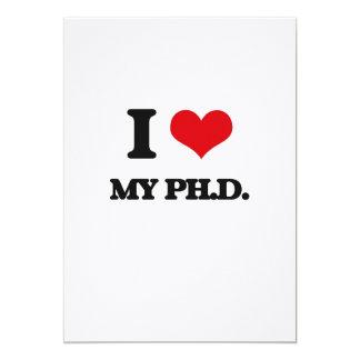 Amo mi Ph.D. Invitación 12,7 X 17,8 Cm