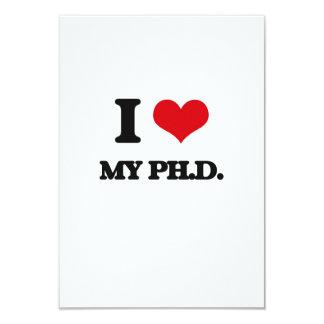 Amo mi Ph.D. Invitación 8,9 X 12,7 Cm